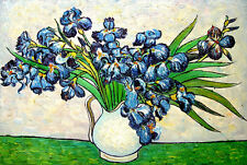 "Van Gogh reproductions Oil Painting - Irises, 1890 - size 36""x24"""