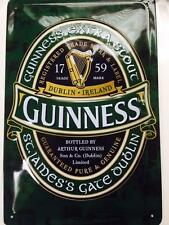 "Guinness Dark Green logo on metal sign 12"" x 8"" inches"
