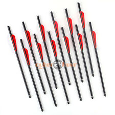 "12 Pcs Aluminum Arrows 20"" Crossbow Bolts for Hunting Target Practice Archer"