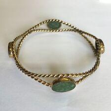 Vintage 1/20th 12ct Gold Fronted Bracelet / Bangle Possibly Jade 7.5cm X 7.5cm
