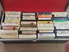 Vintage 8 Track Tapes Qty.30 W/ Carrying Case
