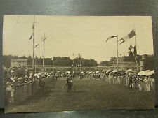 cpa photo courses hippiques tierce hippodrome sulky trot vers 1910