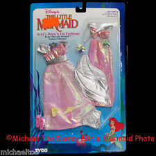 TYCO DISNEY LITTLE MERMAID ARIEL DRESS 'N FIN FASHIONS SPARKLE SILVER PINK *MIP