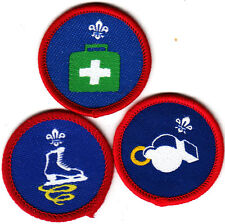 Boy Scout Badges EMERGENCY AID+SKATER+PHYSICAL RECREATION Proficiency