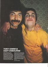 BLACK SABBATH Tony and Ozzy goofing magazine PHOTO / Pin Up / Poster 11x8""