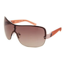 NEW GUESS GF 0274 28F Rose Tone Women's Shield Brown Lens Sunglasses Authentic