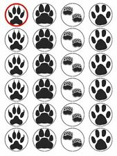 "x24 1.5"" Animal Footprints Cupcake Topper On Edible Wafer Rice Paper"