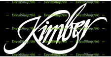 Kimber Firearms - Hunting/Outdoor Sports - Vinyl Die-Cut Peel N' Stick Decals