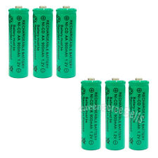 6 x AA 900mAh Ni-Cd NICD Ni-Cad 1.2V rechargeable battery cell/RC Green US Stock