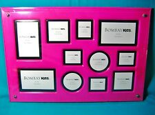 Girl's Bombay Kids Hot Pink Flat Desk Table Vanity Picture Frame Holds 11 Photos