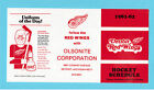 Detroit Red Wings 1981-82 NHL Hockey Schedule