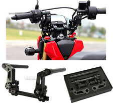 """22mm 7/8"""" 125cc Scooter Motorcycle Adjustable Steering Handle Bar System Black"""