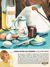 PUBLICITE ADVERTISING 104  1961   HUILOR   huile tradition croix verte
