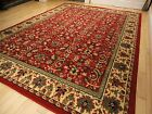 Large Traditional Area Rugs Persian Style Carpet Oriental Rug 8x10 Red Rugs 5x8