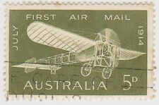 (W1764) 1964 AU 5d green 50th anniversary 1st air mail (C)