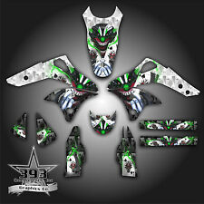 KAWASAKI KX250F KXF 250 2006 - 2008 GRAPHICS KIT DECALS EVIL JOKER WHITE