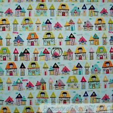 BonEful Fabric FQ Cotton Quilt VTG Blue Red White Adoption Tiny House Home Small
