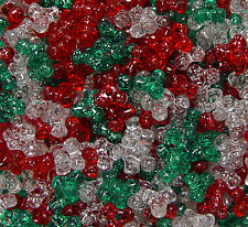 11mm Tri Beads Christmas Glitter Mix 1,000pc beading crafts jewelry Made in USA