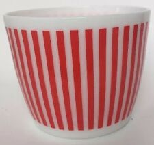Vintage Hazel Atlas Red And White Candy Stripe Milk Glass Ice Bucket