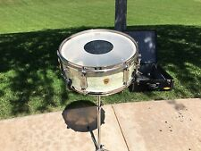 Vintage Ludwig Snare Drum, 1965, WMP, 5x14, With Stand & Case