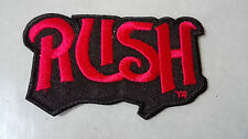 RUSH Red Iron Sew On Embroidered Patch Rock Music no-294