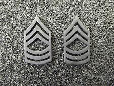 (A29-004) US Rangabzeichen Metall Master Sergeant Schwarz