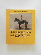 Bruno Binder Krieglstein Jugenderinnerungen Alt-Österreichischen Salonlöwen