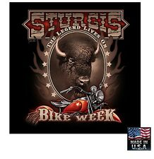 STURGIS US BISON Buffalo LEGEND Bike Week Bandana Head Cap Skull Harley D Colors