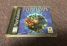Populous: The Beginning  (Sony PlayStation 1, 1999) Complete