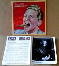 JERRY LEE LEWIS - WHEN TWO WORLDS COLLIDE - ELEKTRA LP, B&W PIC, 3 PG BIO - 1980
