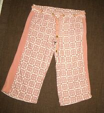 CHIC CASUAL JUICY COUTURE TERRY PINK TRACK BOTTOMS SIZE S