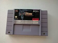 Ultima: The Black Gate Super Nintendo SNES Tested & Works! See Photos! FREE SHIP