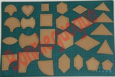 27 Pieces Laser Cut Quilt Templates Set ,Crylic-clear- 2mm Thickness