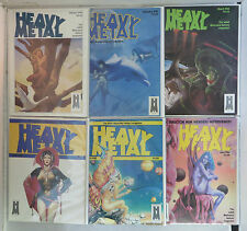 Heavy Metal Magazine RARE 1983 Year Lot Issues 1-6, 8-12# Jan-June Aug-Dec