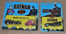 Ertl 1989 BATMAN THE MOVIE Diecast (2) BATMOBILE & The Joker Van NEW on CARD .