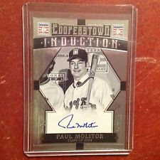 PAUL MOLITOR #33 Brewers Auto on card 2015 COOPERSTOWN HOF Panini Induction