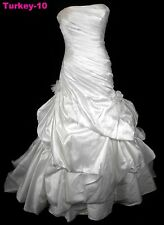 ORG $899 Pronovias Ivory 12 Formal Wedding Gown Dropped Waist Dress