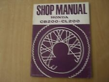 Officina Manuale Honda CB 200 CL 200 1973 Repair negozio service manual