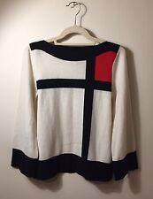 """Diane Von Furstenberg  DVF 100% Cashmere """"Mondrian"""" Sweater Size M"""