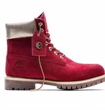 """TIMBERLAND Wmns LIMITED EDITION NAUGHTY OR NICE 6"""" PREMIUM BOOTS SIZE10 RED"""