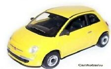 Italian BH096 - Fiat 500 Popular 2007 - Yellow 1/43 Scale - New Bubble Pack 1st