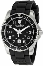 New Victorinox Swiss Army Maverick 43mm Rubber Strap Men's Quartz Watch 241435
