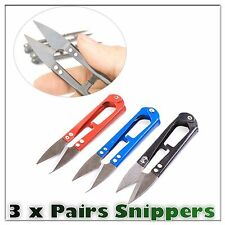 3 X Thread Snips Scissors Yarn Sewing Cutter Nipper Cloth Vapour Vape Coil UK