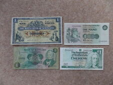 Rare Lot Bank of Scotland 4x 1Poud-Sterling Banknotes  Good Condition! Good Gift