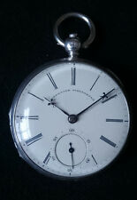 FINE SOLID SILVER ANTIQUE ENGLISH LEVER POCKET WATCH HALLMARKED LONDON 1854