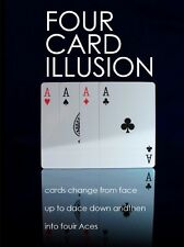 Four Cards Illusion - Cards Turn Over and Change Into Aces!