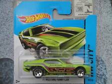 Hot Wheels 2014 #099/250 1971 Ford MUSTANG FUNNY CAR green HW CITY