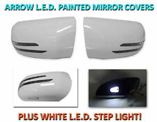 USA 95-00 W202 C Class Arrow LED Side Painted White Mirror Cover+LED Step Light