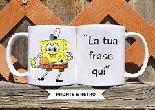 Tazza ceramica SPONGEBOB 10 CON FRASE PERSONALIZZATA ceramic mug