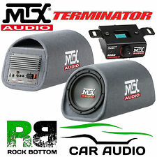 "MTX RT8PT 360W 8"" Active Amplified Sub Subwoofer Enclosure Box Car Bass Tube"